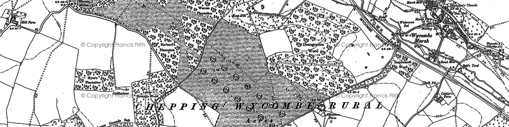 Old map of Wycombe Marsh in 1897