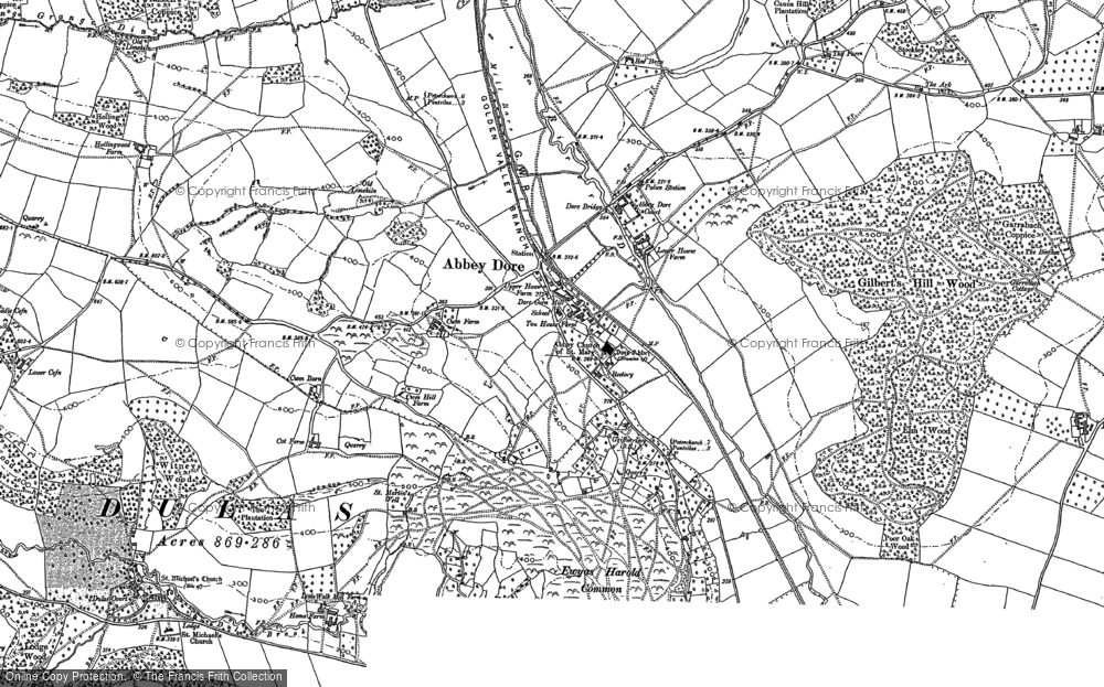 Old Map of Abbey Dore, 1886 - 1887 in 1886