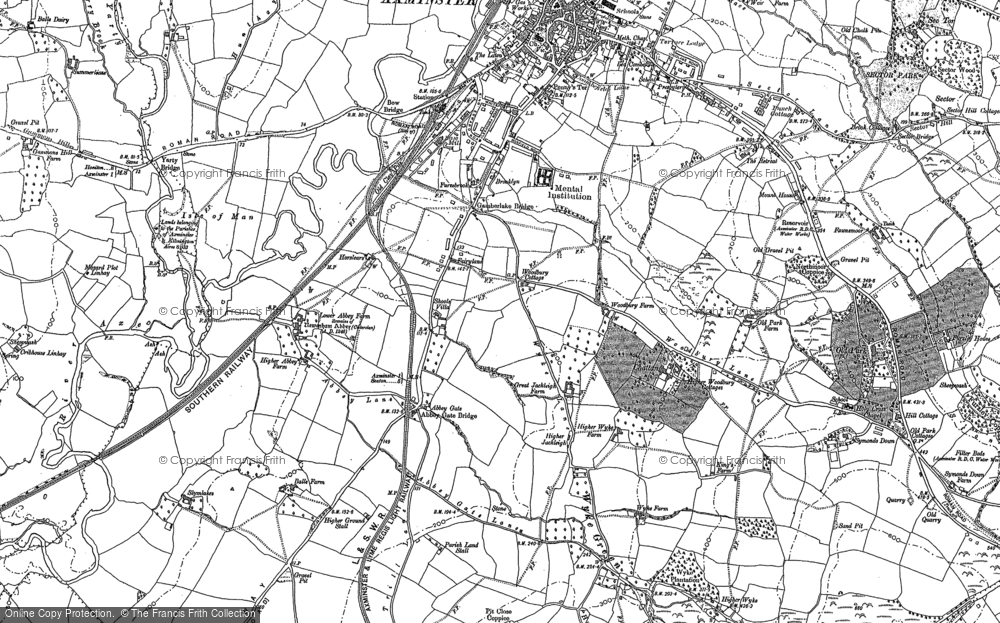 Old Map of Abbey Gate, 1887 - 1903 in 1887