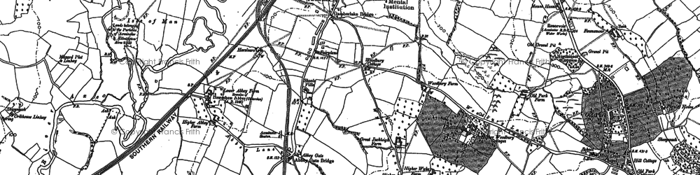 Old map of Abbey Gate in 1887