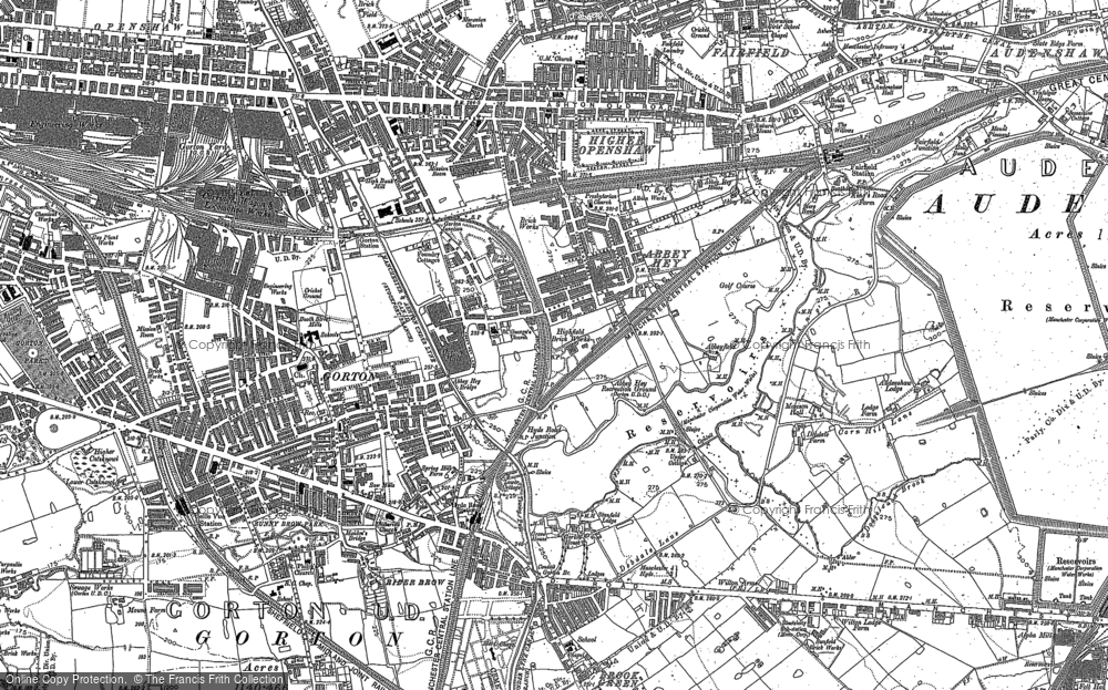 Old Map of Abbey Hey, 1890 - 1906 in 1890