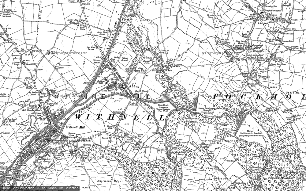 Old Map of Abbey Village, 1891 - 1893 in 1891