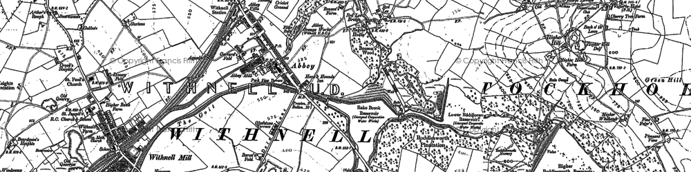 Old map of Abbey Village in 1891