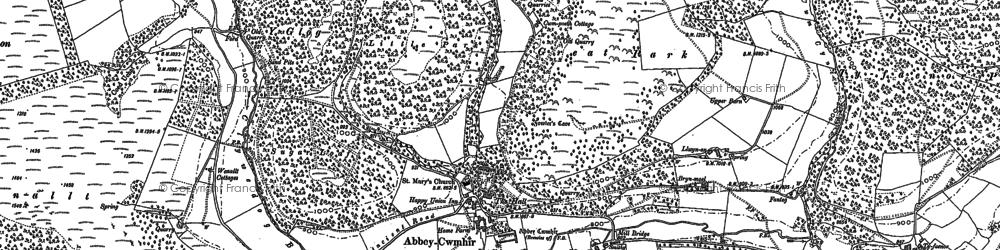 Old map of Abbeycwmhir in 1888
