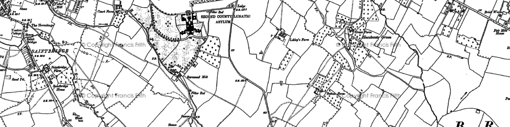 Old map of Abbeydale in 1883