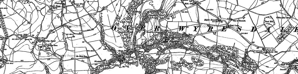 Old map of Abbeystead in 1910