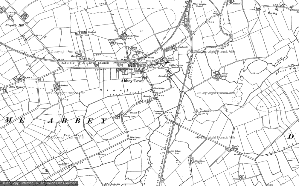 Old Map of Abbeytown, 1899 in 1899