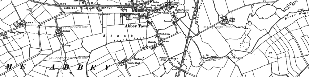 Old map of Abbeytown in 1899