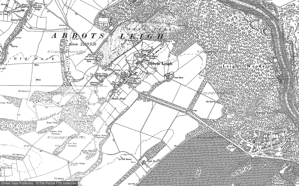 Old Map of Abbots Leigh, 1883 - 1902 in 1883