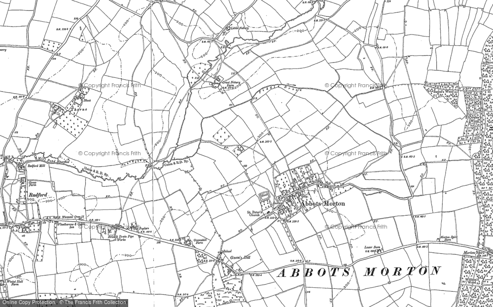 Old Map of Abbots Morton, 1903 in 1903