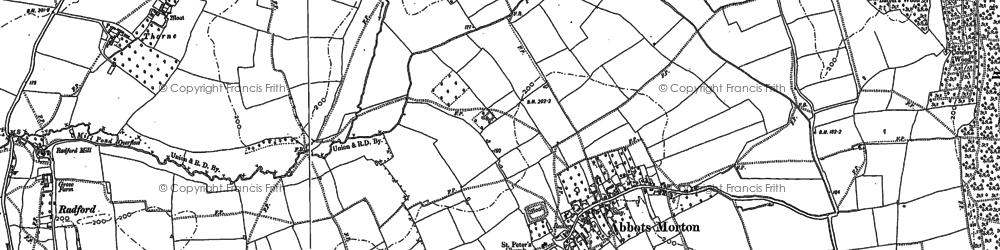 Old map of Abbots Morton in 1903