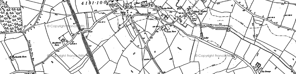 Old map of Abbots Ripton in 1887