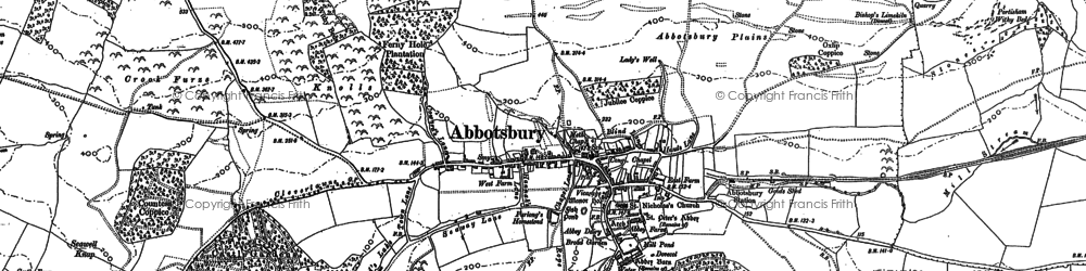 Old map of Abbotsbury Plains in 1901