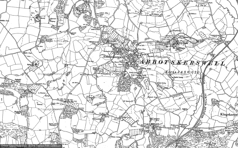 Old Map of Abbotskerswell, 1886 - 1887 in 1886