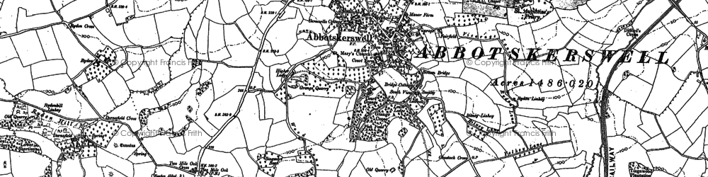 Old map of Abbotskerswell in 1886