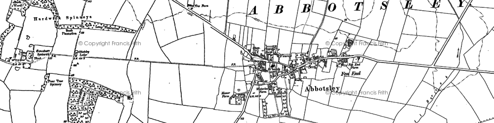 Old map of Abbotsley in 1900