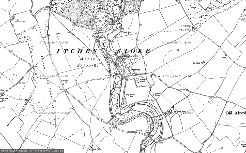 Old Map of Abbotstone, 1894 - 1895 in 1894