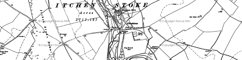 Old map of Abbotstone in 1894