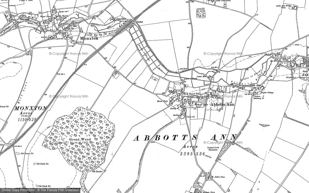 Old Map of Abbotts Ann, 1894 in 1894