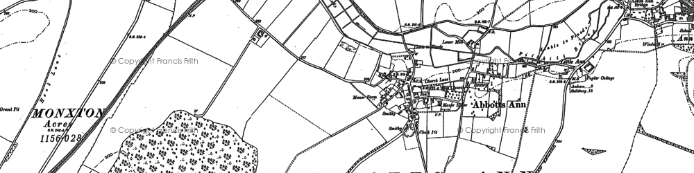 Old map of Abbotts Ann in 1894