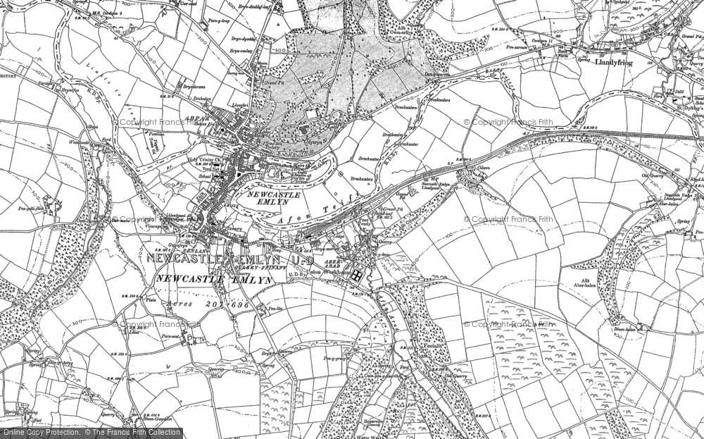 Old Map of Historic Map covering Allt Boeth in 1887