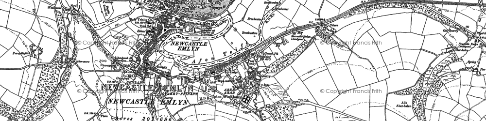 Old map of Allt Boeth in 1887