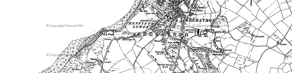 Old map of Aberaeron in 1904