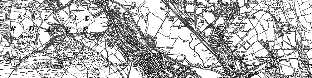 Old map of Aberaman in 1898