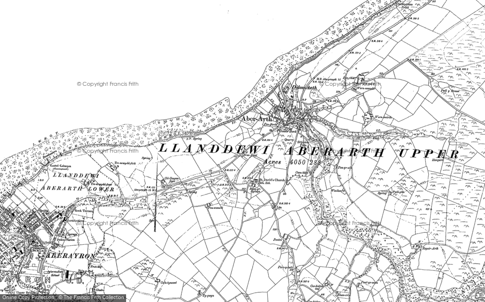 Old Map of Aberarth, 1904 in 1904