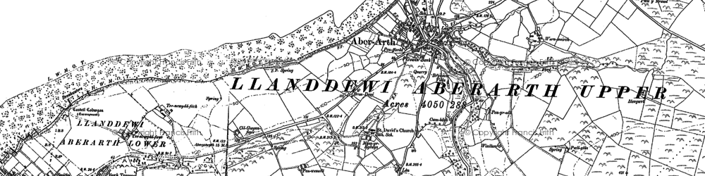Old map of Afon Arth in 1904