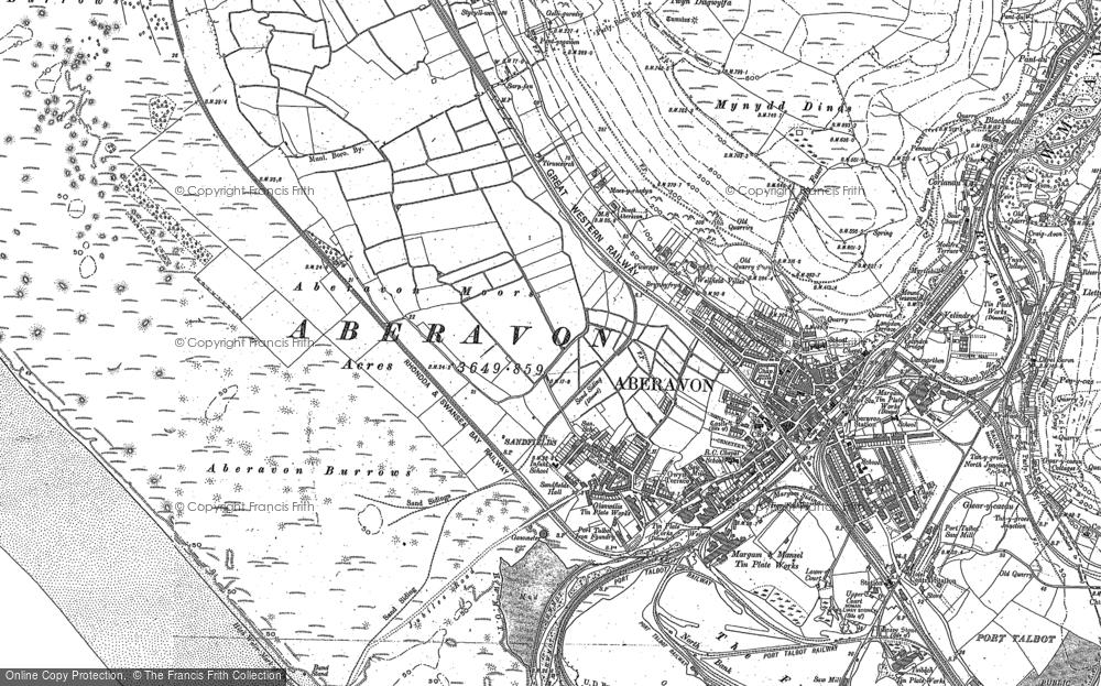Map of Aberavon, 1897 - 1914