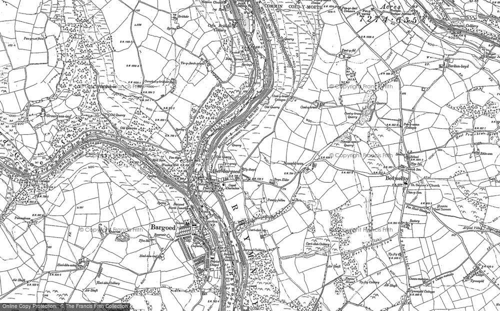 Old Map of Aberbargoed, 1916 in 1916