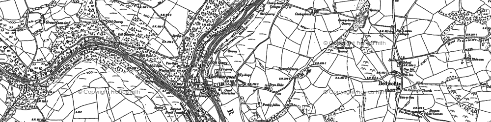 Old map of Aberbargoed in 1916