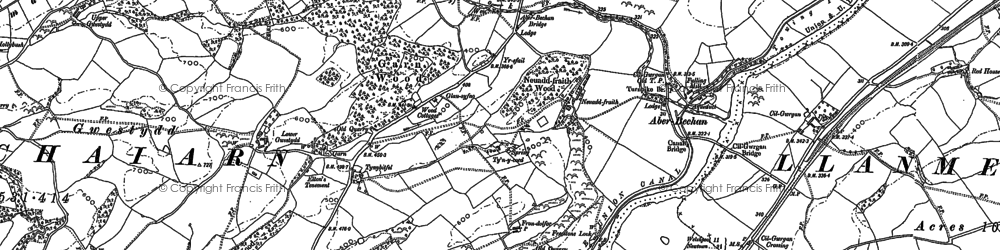 Old map of Aberbechan Dike in 1884