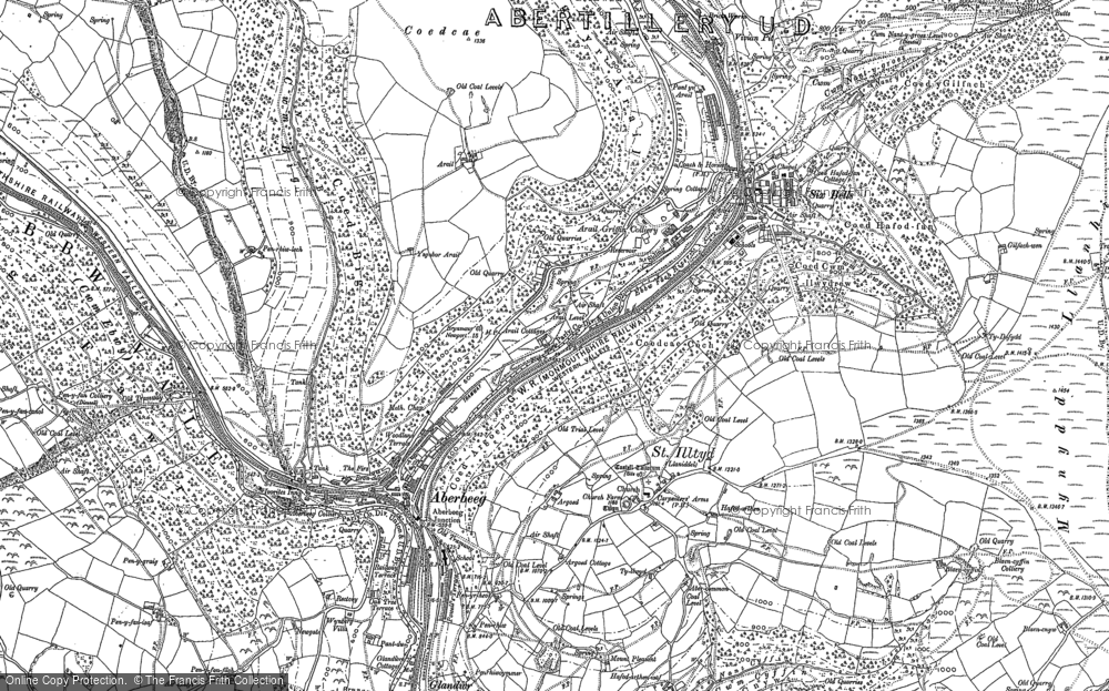 Old Map of Aberbeeg, 1916 in 1916
