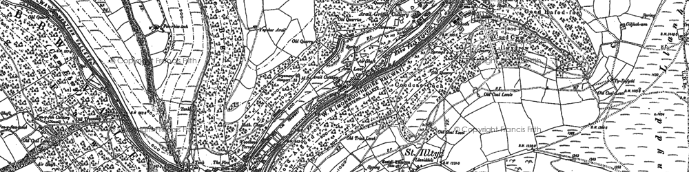 Old map of Aberbeeg in 1916