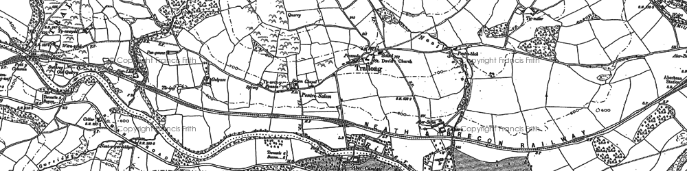 Old map of Abercamlais in 1886