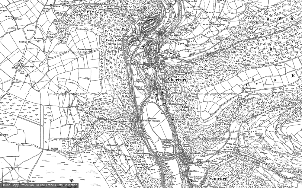 Old Map of Abercarn, 1899 - 1916 in 1899