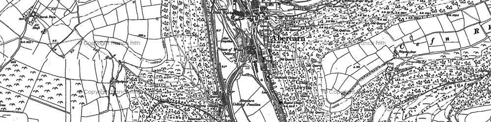 Old map of Abercarn in 1899