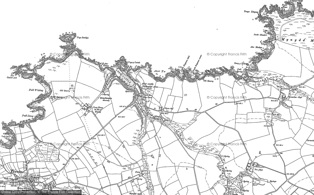 Old Map of Historic Map covering Aber Yw in 1906