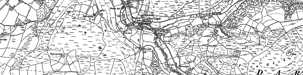 Old map of Abergwydol in 1886