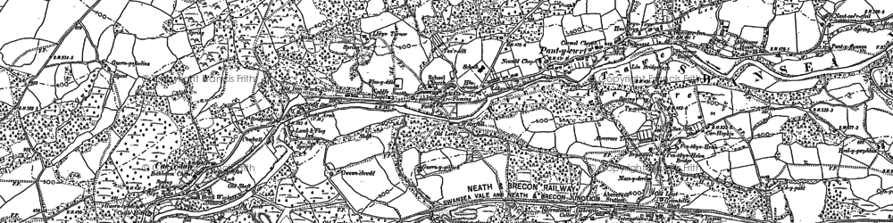 Old map of Abercraf in 1903