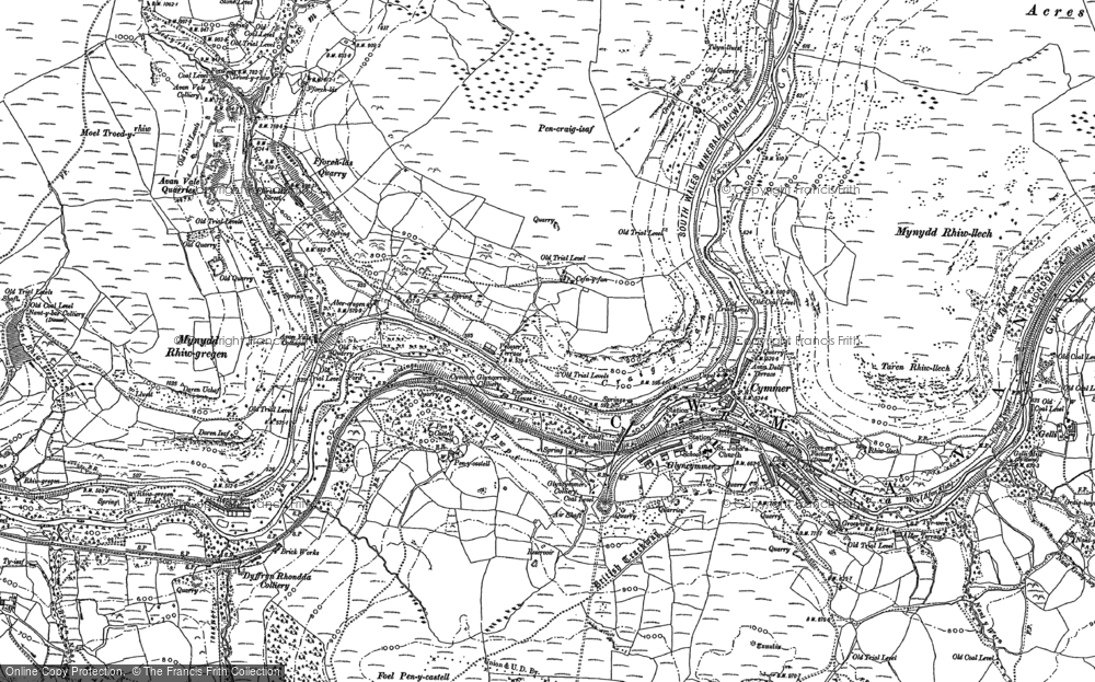 Map of Abercregan, 1897