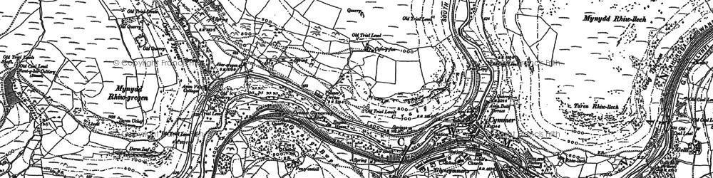 Old map of Abercregan in 1897