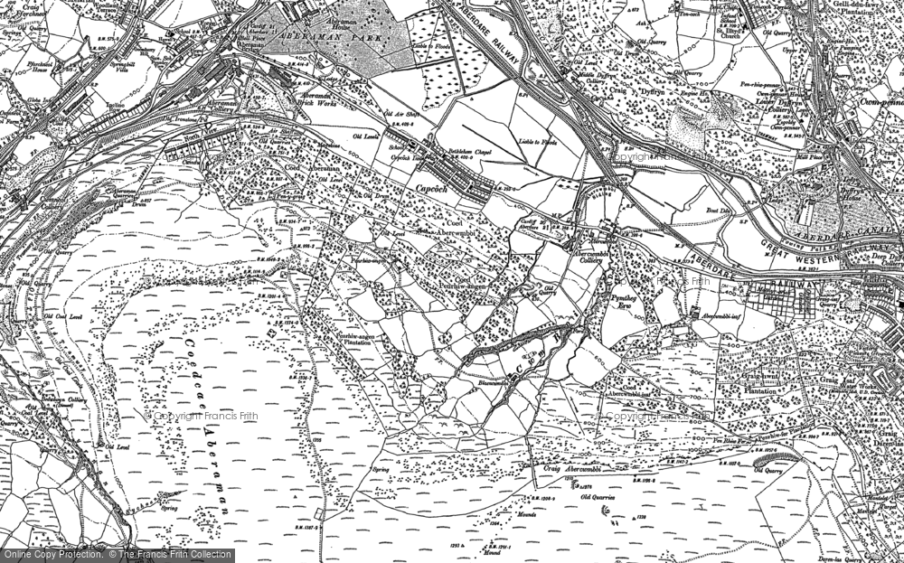 Old Map of Abercwmboi, 1898 in 1898