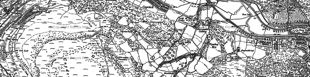 Old map of Abercwmboi in 1898