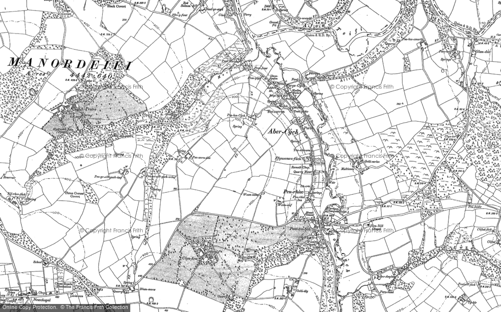 Map of Abercych, 1904
