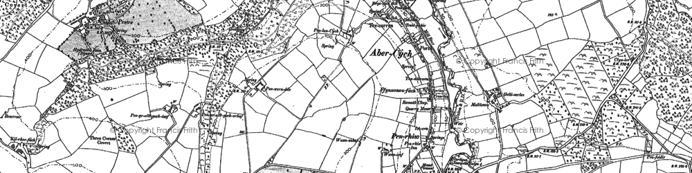 Old map of Abercych in 1904