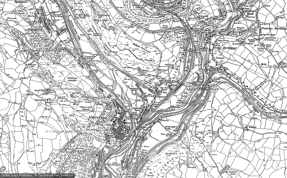 Map of Abercynon, 1898