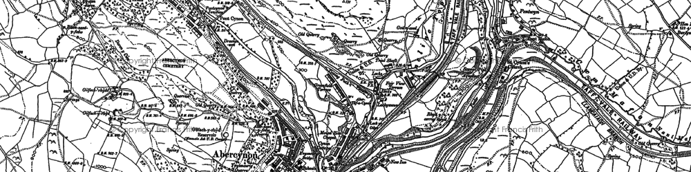 Old map of Abercynon in 1898